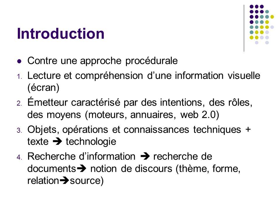 Introduction Contre une approche procédurale 1.