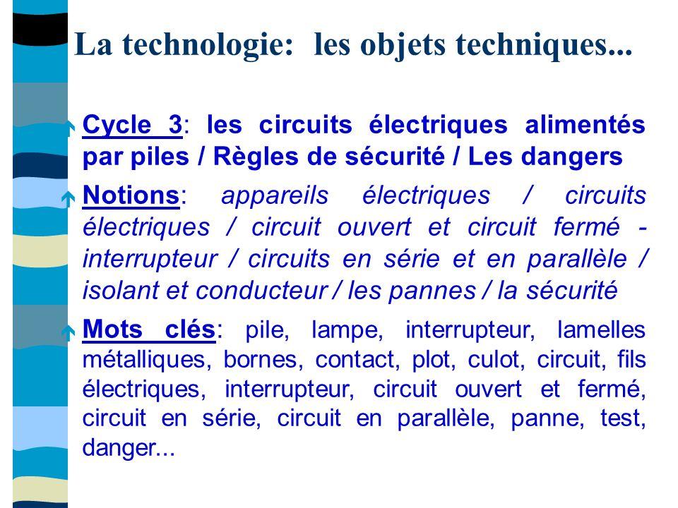La technologie: les objets techniques...