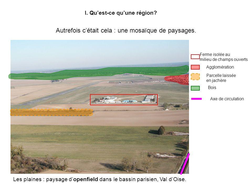 I. Quest-ce quune région. Autrefois cétait cela : une mosaïque de paysages.