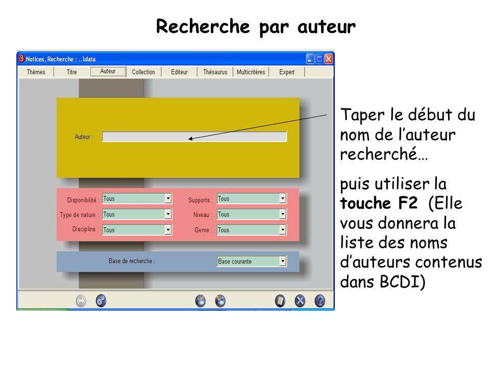 Lécran de résultats : BCDI vous permet daccéder à des notices, cest-à-dire aux références des documents qui correspondent à votre recherche.