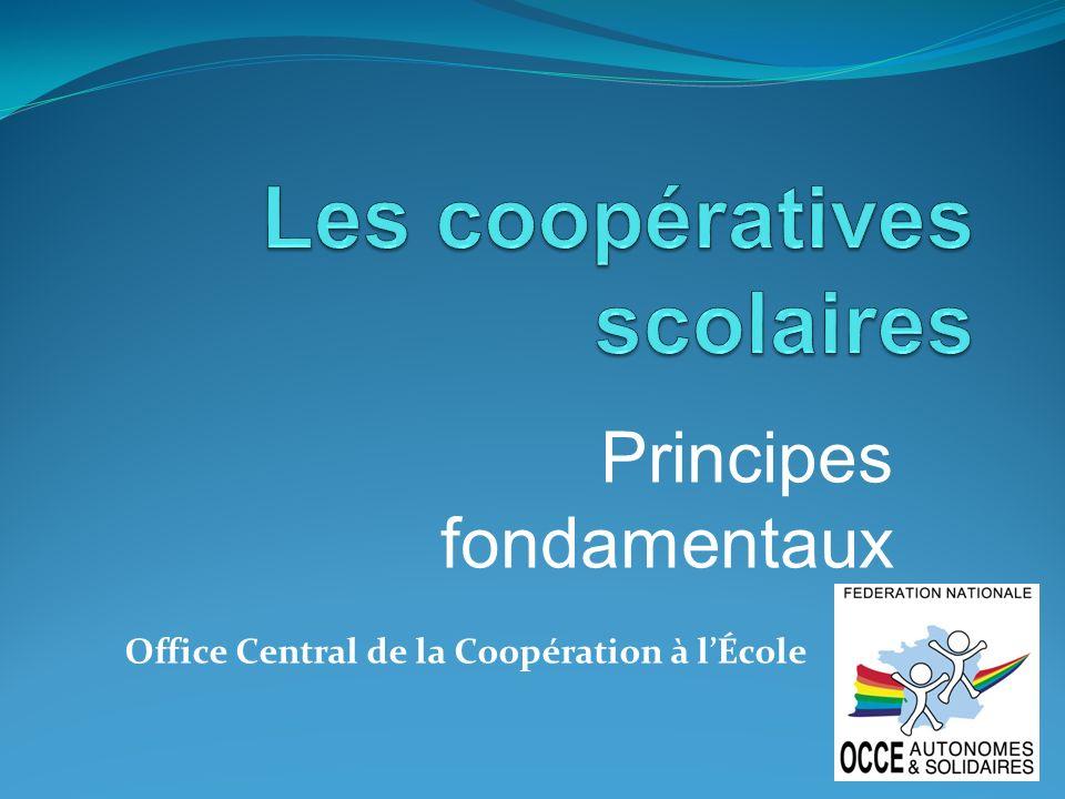 Rendu des comptes* : Les coopératives scolaires rendent des comptes aux associations départementales.