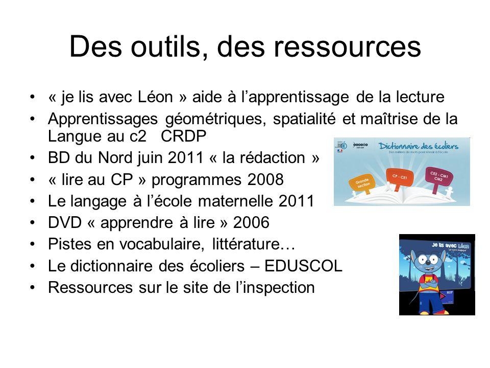 Des outils, des ressources « je lis avec Léon » aide à lapprentissage de la lecture Apprentissages géométriques, spatialité et maîtrise de la Langue a