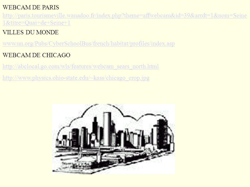 WEBCAM DE PARIS http://paris.tourismeville.wanadoo.fr/index.php?theme=affwebcam&id=39&arrdt=1&nom=Seine 1&titre=Quai+de+Seine+1 http://paris.tourismev