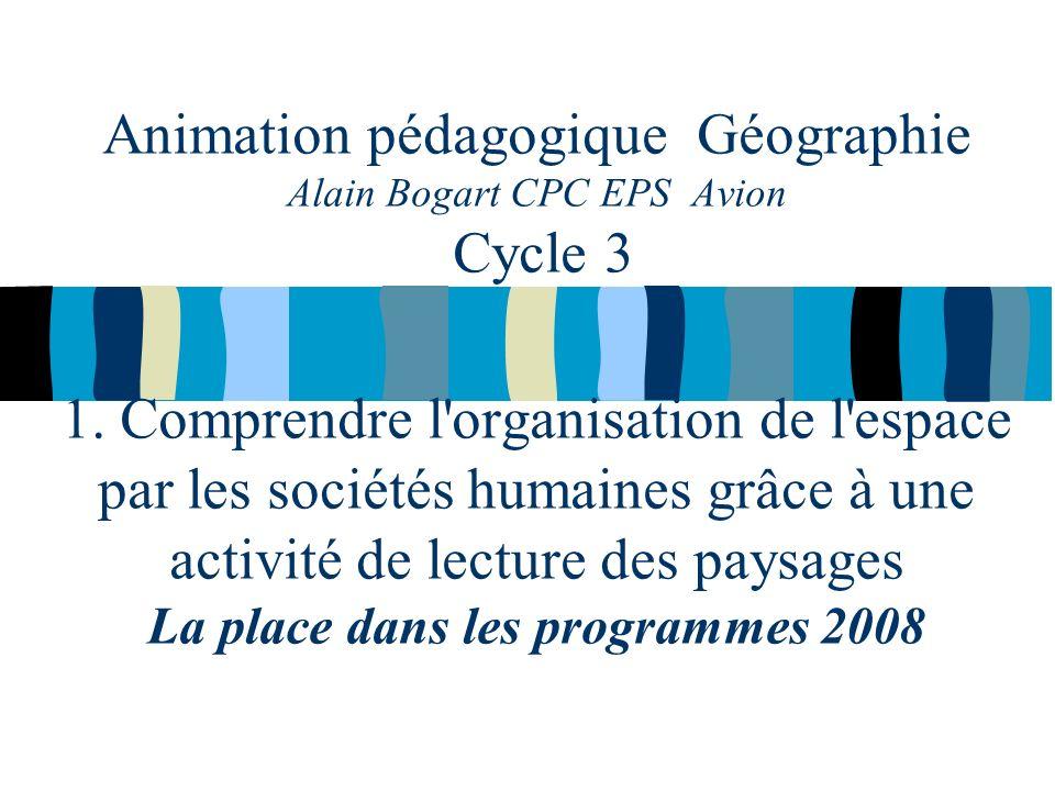 Animation pédagogique Géographie Alain Bogart CPC EPS Avion Cycle 3 1.