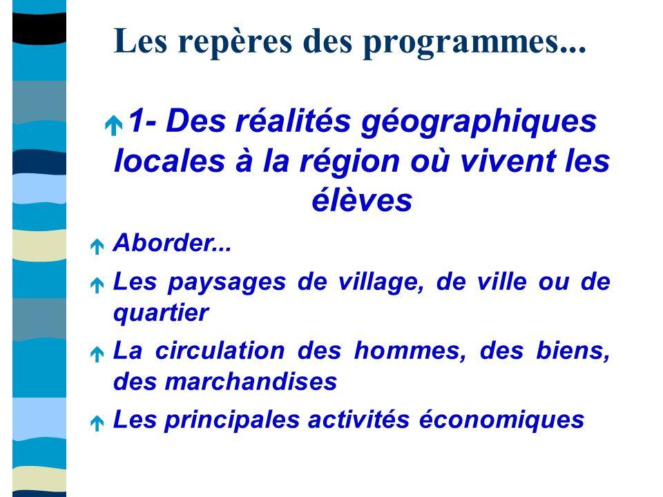 Les repères des programmes...2- Le territoire français dans l union européenne Aborder...