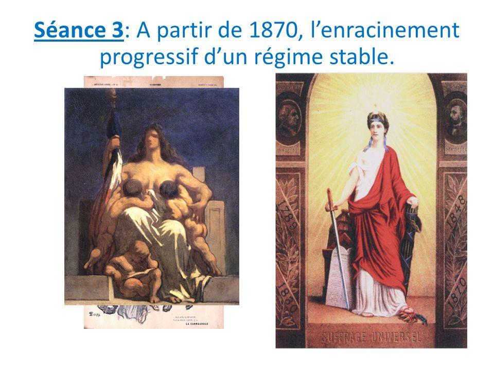 Séance 3: A partir de 1870, lenracinement progressif dun régime stable.