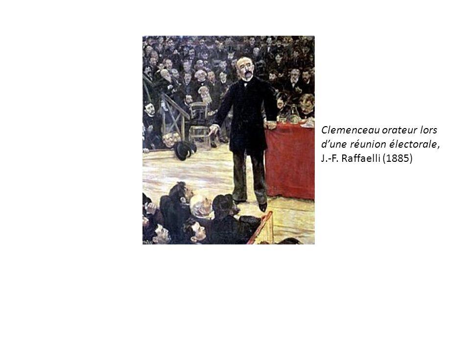 Clemenceau orateur lors dune réunion électorale, J.-F. Raffaelli (1885)