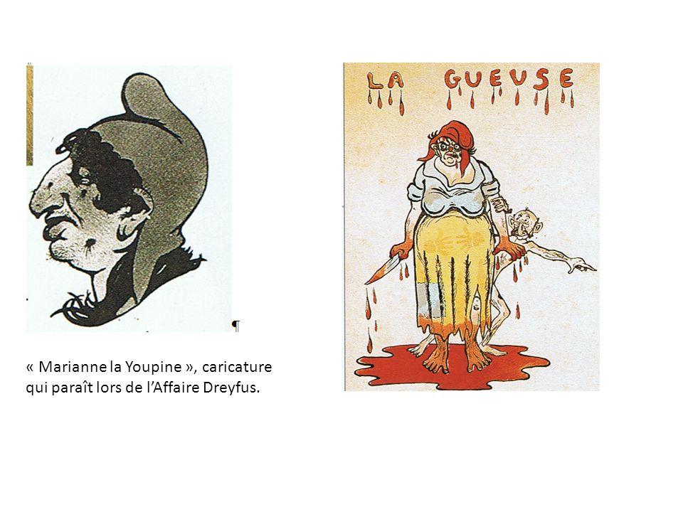 « Marianne la Youpine », caricature qui paraît lors de lAffaire Dreyfus.