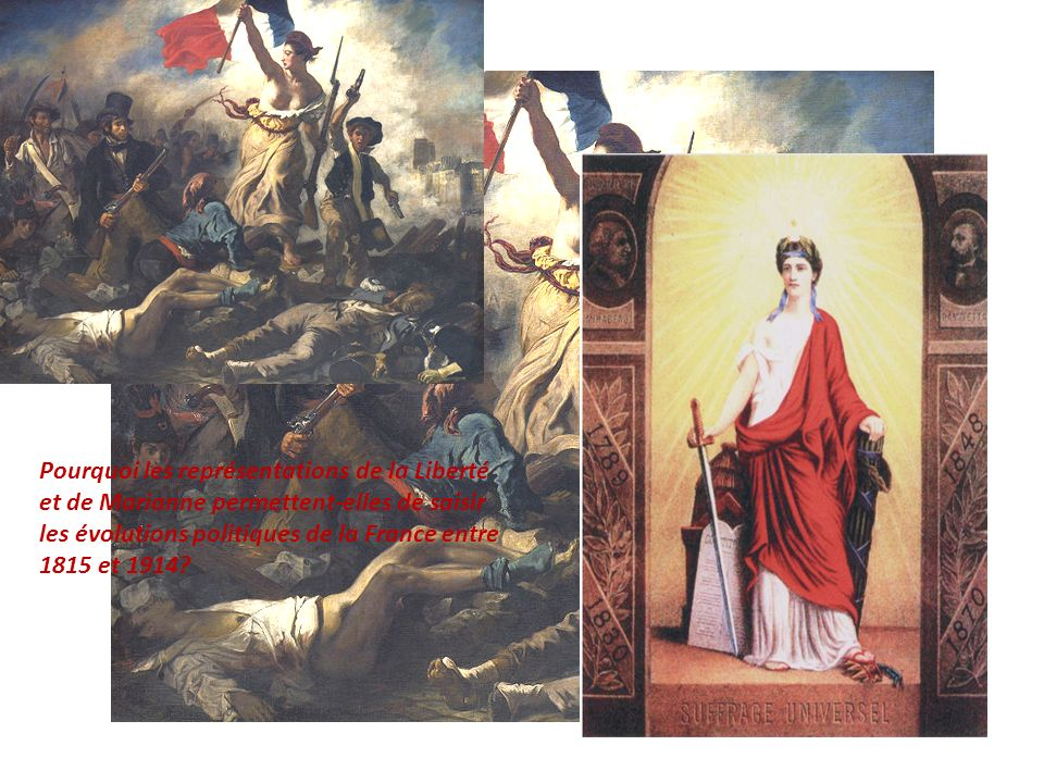 Pourquoi les représentations de la Liberté et de Marianne permettent-elles de saisir les évolutions politiques de la France entre 1815 et 1914.