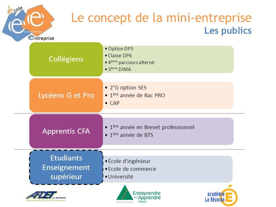 Option DP3 Classe DP6 4 ème parcours alterné 3 ème DIMA Collégiens 2°G option SES 1 ère année de Bac PRO CAP Lycéens G et Pro 1 ère année en Brevet pr