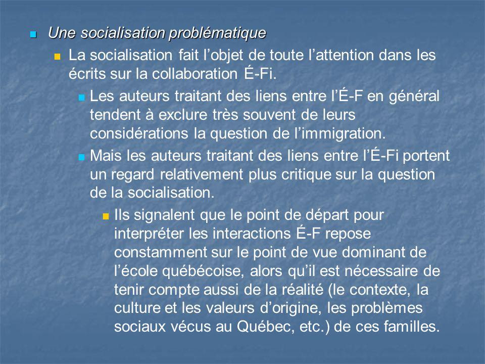 Une socialisation problématique Une socialisation problématique La socialisation fait lobjet de toute lattention dans les écrits sur la collaboration