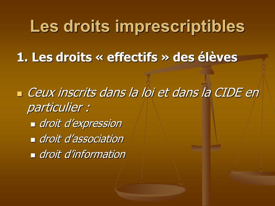 Les droits imprescriptibles 1.