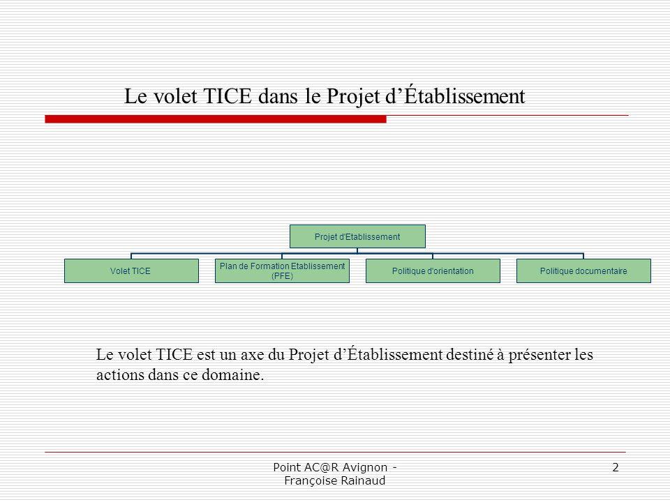 Point AC@R Avignon - Françoise Rainaud 3 Pourquoi rédiger un tel projet .