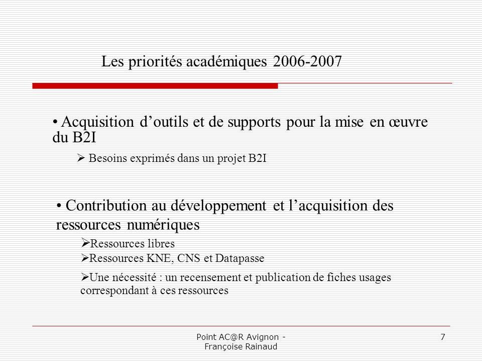 Point AC@R Avignon - Françoise Rainaud 8 Mise en œuvre despaces de services mutualisés.