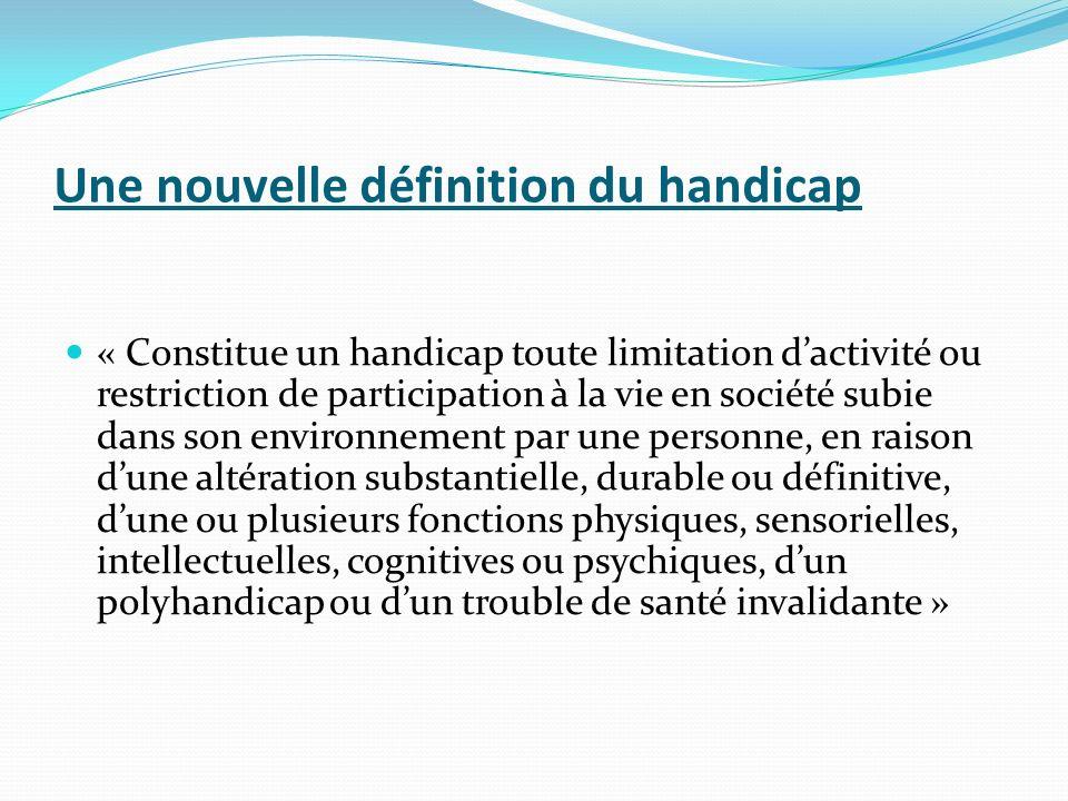 Création de la M D P H La M D P H (Maison Départementale des Personnes Handicapées) met en place: -la CDAPH :Commission des Droits et de lAutonomie des Personnes Handicapées (qui remplace la CDES + COTOREP) Elle centralise toutes les demandes concernant le handicap