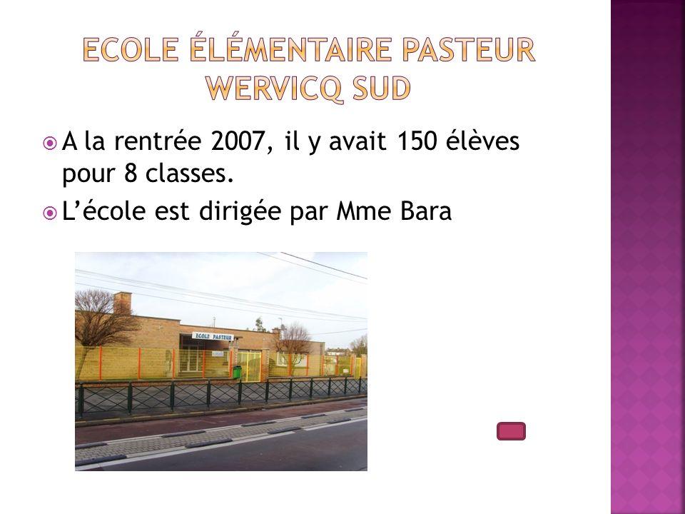 A la rentrée 2007, il y avait 150 élèves pour 8 classes. Lécole est dirigée par Mme Bara