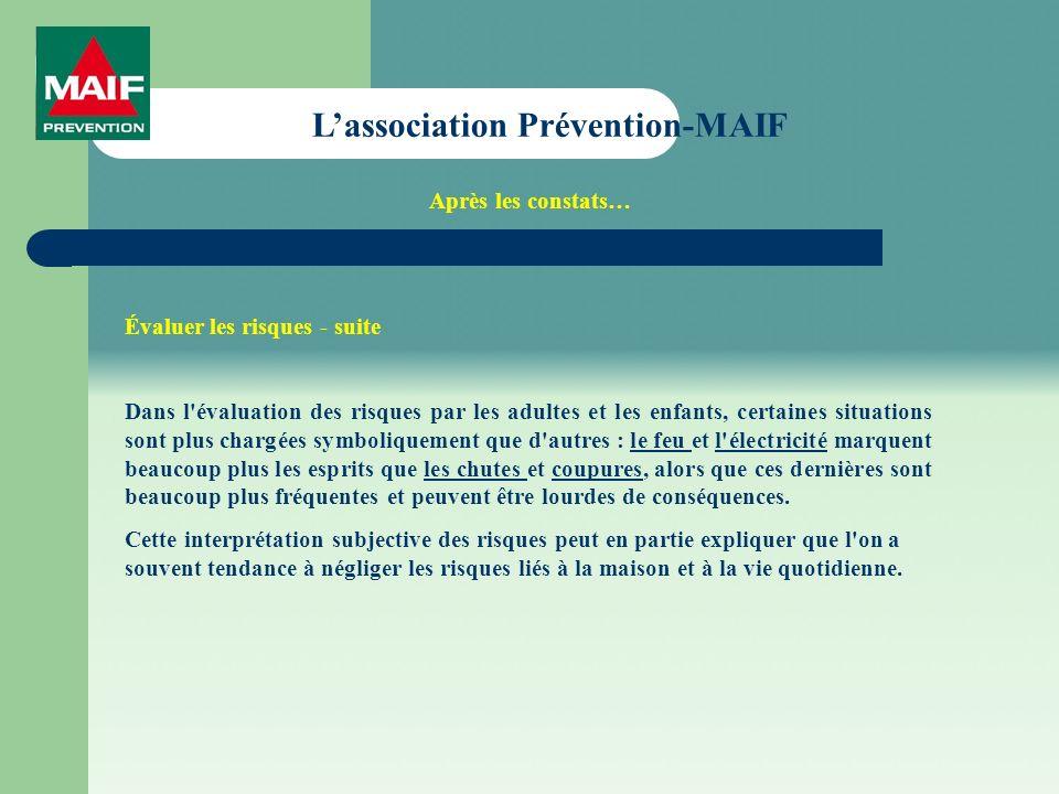Les dangers domestiques Maintenant, la balle est dans votre camp… Nhésitez pas à nous contacter à ladresse suivante PREVENTION-MAIF 1Rue de Cambrai 2BP 721 – 59034 LILE CEDEX Tel : 03.20.18.36.90 – Fax : 03.20.18.36.91 courriel : prevention.maif.lille@maif.frprevention.maif.lille@maif.fr