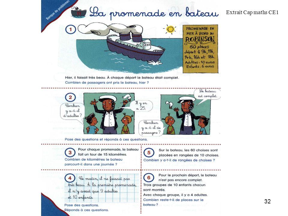 MATHEMATIQUES ~ Les programmes 2007 32 Extrait Cap maths CE1