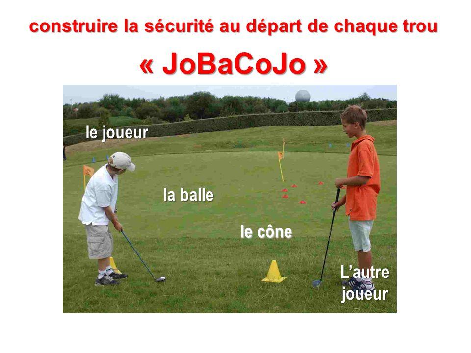 « JoBaCoJo » la balle le cône Lautre joueur le joueur
