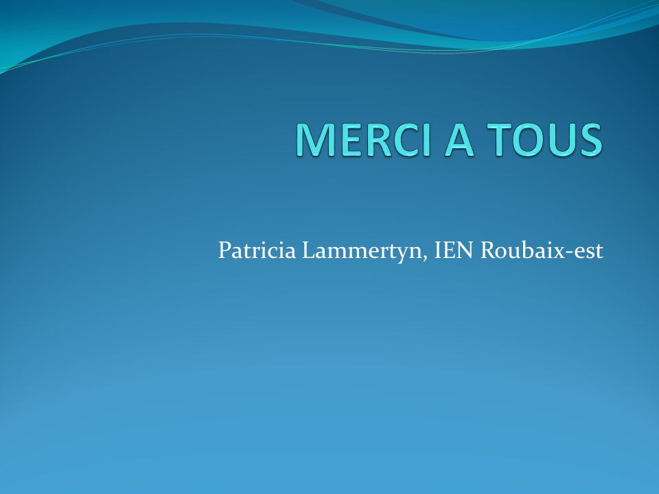 Patricia Lammertyn, IEN Roubaix-est