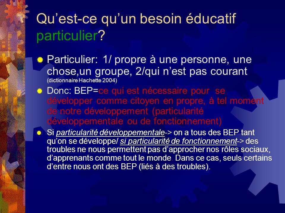 Quest-ce quun BEP pour un enseignant spécialisé.