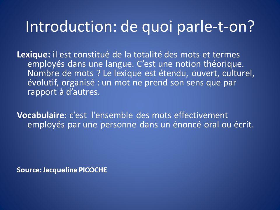Structurer Un exemple: le parcours EPS (école dArnac Pompadour; DVD: Apprendre à parler) -désigner/nommer/énumérer/décrire