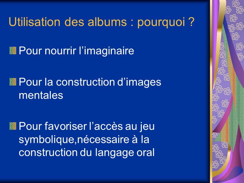 Utilisation des albums : pourquoi .