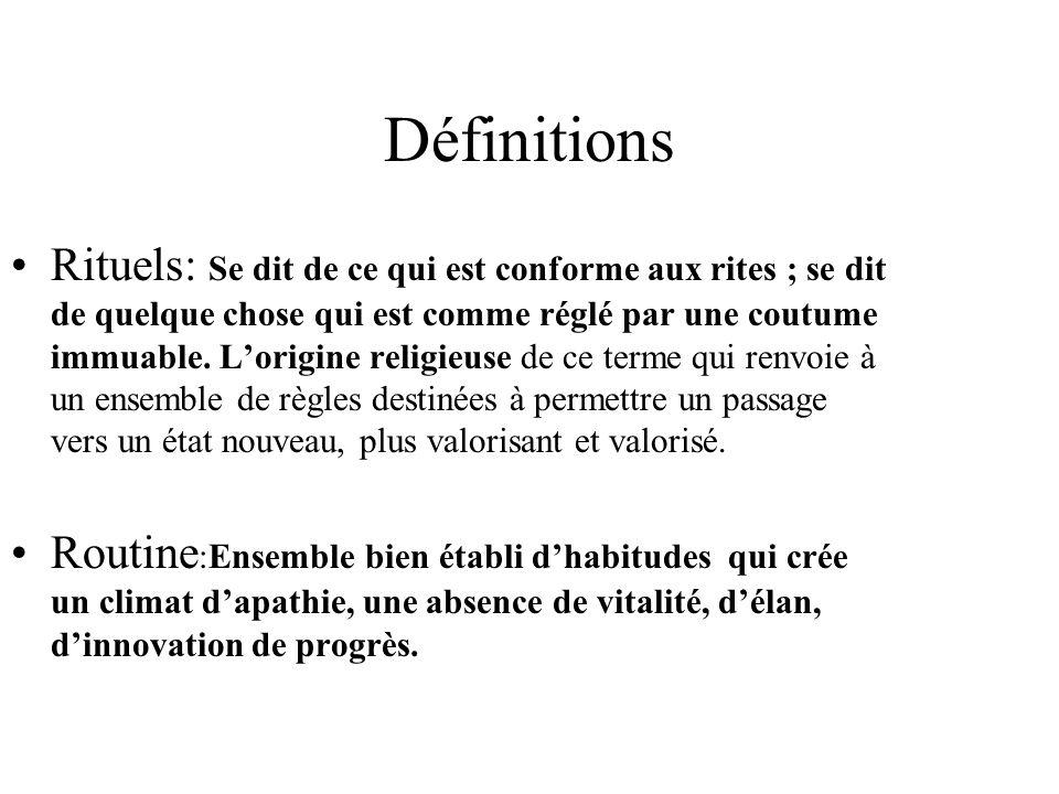 Définitions Rituels: Se dit de ce qui est conforme aux rites ; se dit de quelque chose qui est comme réglé par une coutume immuable. Lorigine religieu