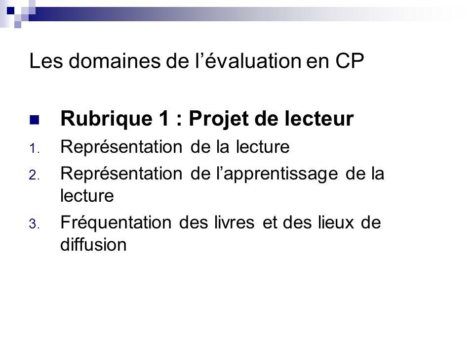 Les domaines de l évaluation en CP Rubrique 2 : conceptualisation de la langue 4.