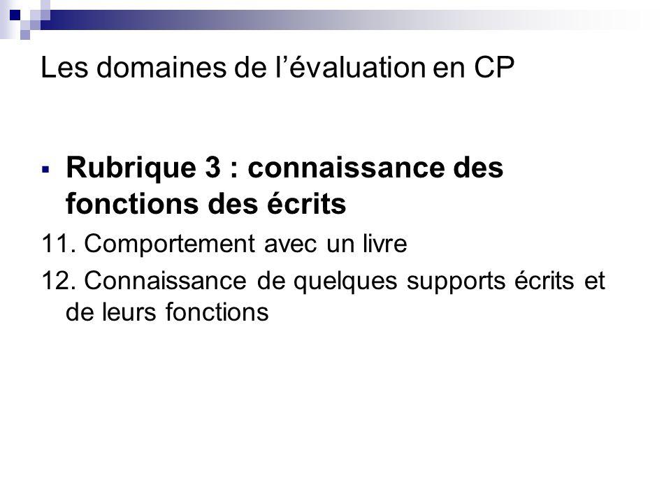 Les domaines de lévaluation en CP Rubrique 4 : facteurs linguistiques et encyclopédiques favorisant la compréhension 13.