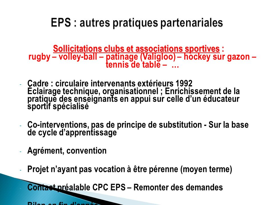 Sollicitations clubs et associations sportives Sollicitations clubs et associations sportives : rugby – volley-ball – patinage (Valigloo) – hockey sur