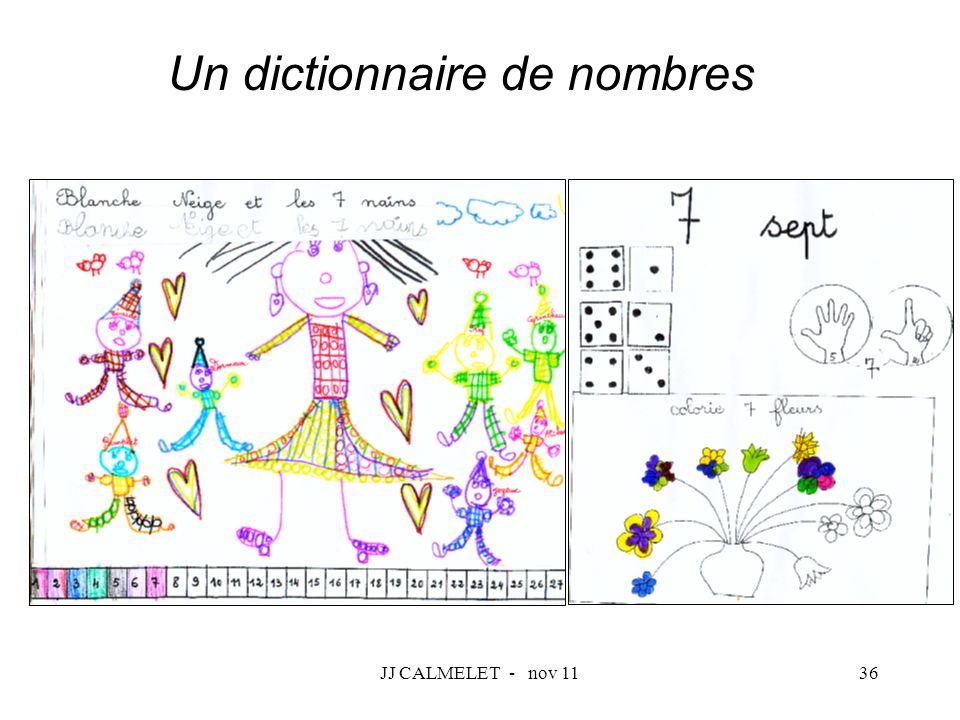 JJ CALMELET - nov 1136 Un dictionnaire de nombres