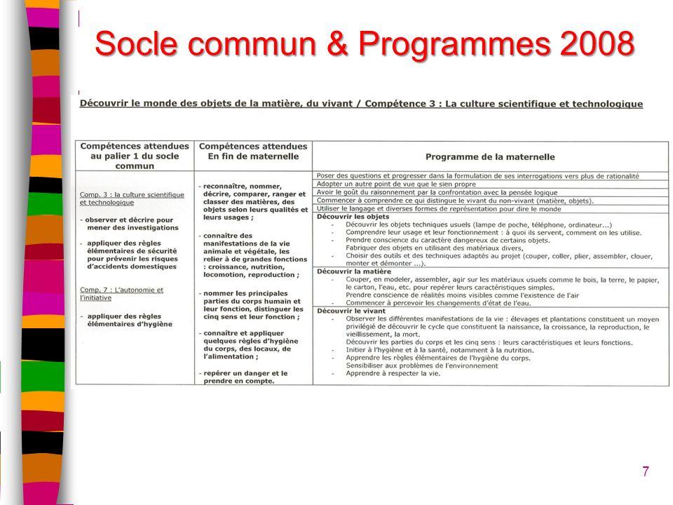 7 Socle commun & Programmes 2008
