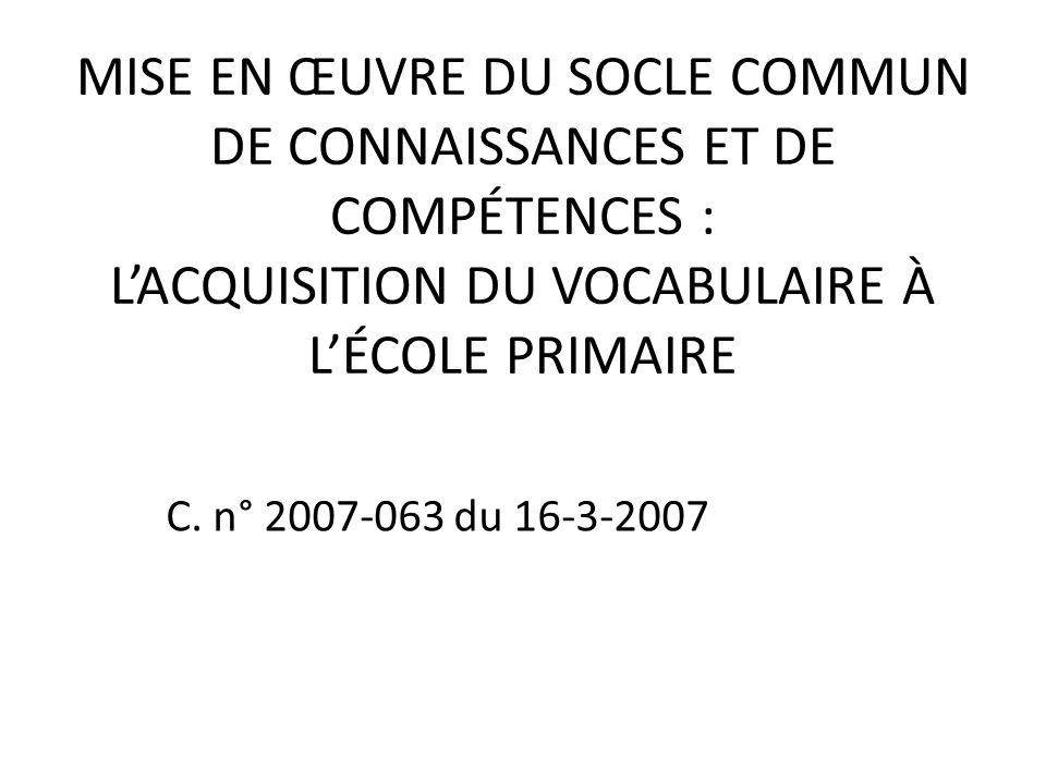Au cours du développement lexical, lune des principales tâches de lenfant consiste à modifier ses catégories initiales vers les catégories standard des adultes.