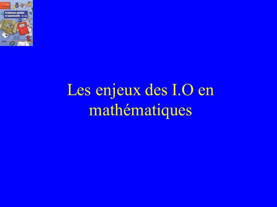 Plan de lanimation 1. Les enjeux des Instructions de 2008 en mathématiques 2. Les intérêts de louvrage. 3. Un constat 3. Quest-ce quun problème additi
