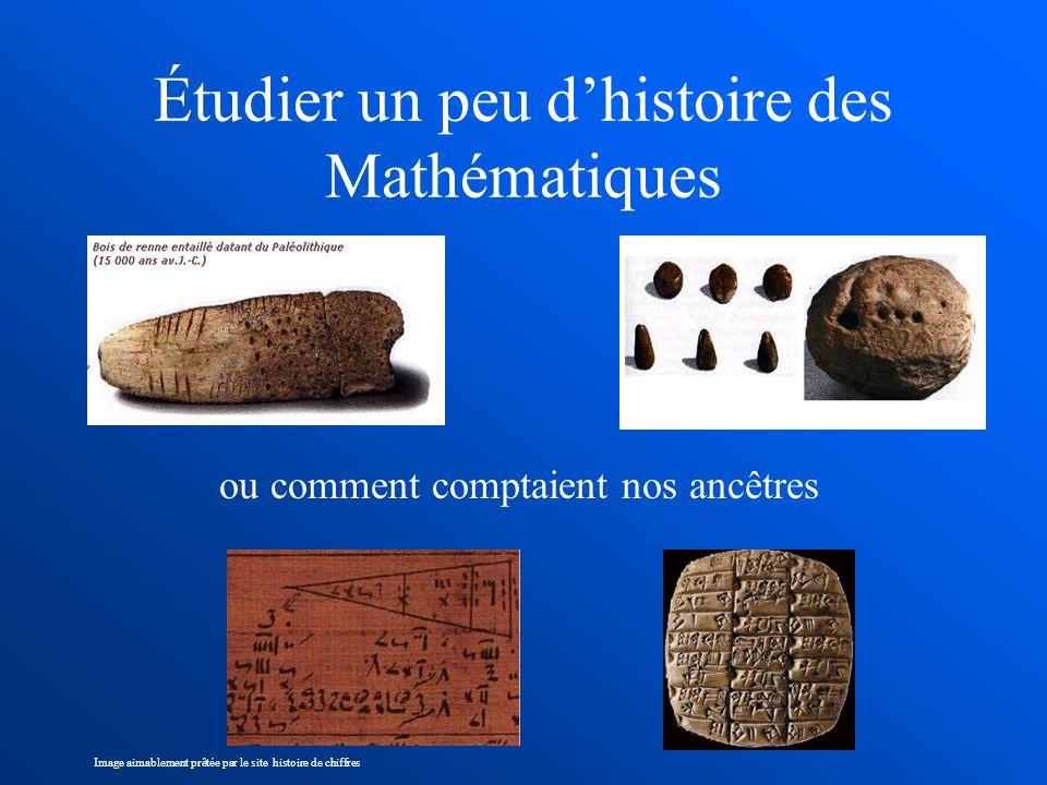 Étudier un peu dhistoire des Mathématiques ou comment comptaient nos ancêtres Image aimablement prêtée par le site histoire de chiffres