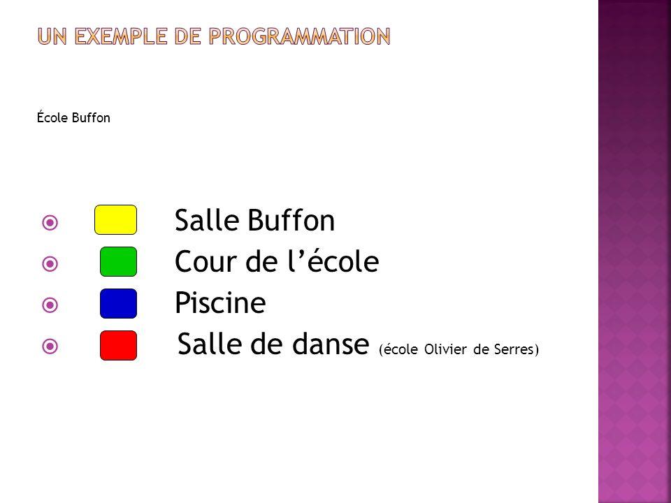 École Buffon Salle Buffon Cour de lécole Piscine Salle de danse (école Olivier de Serres)