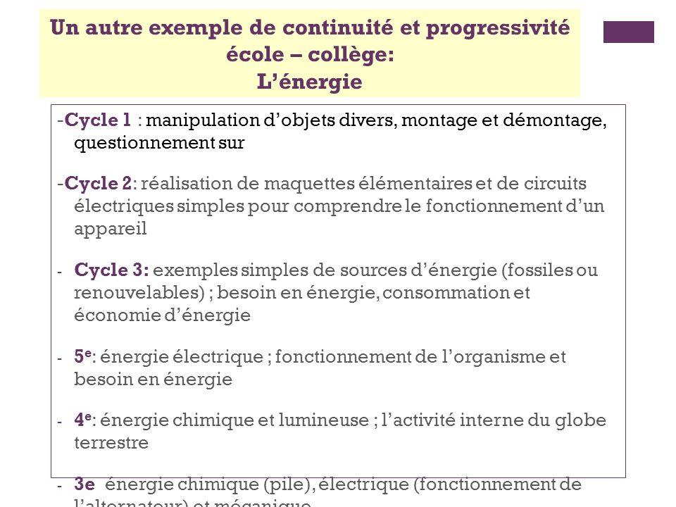 Continuité/progressivité école – collège: la démarche dinvestigation Extrait de lintroduction au programme de 6e III.