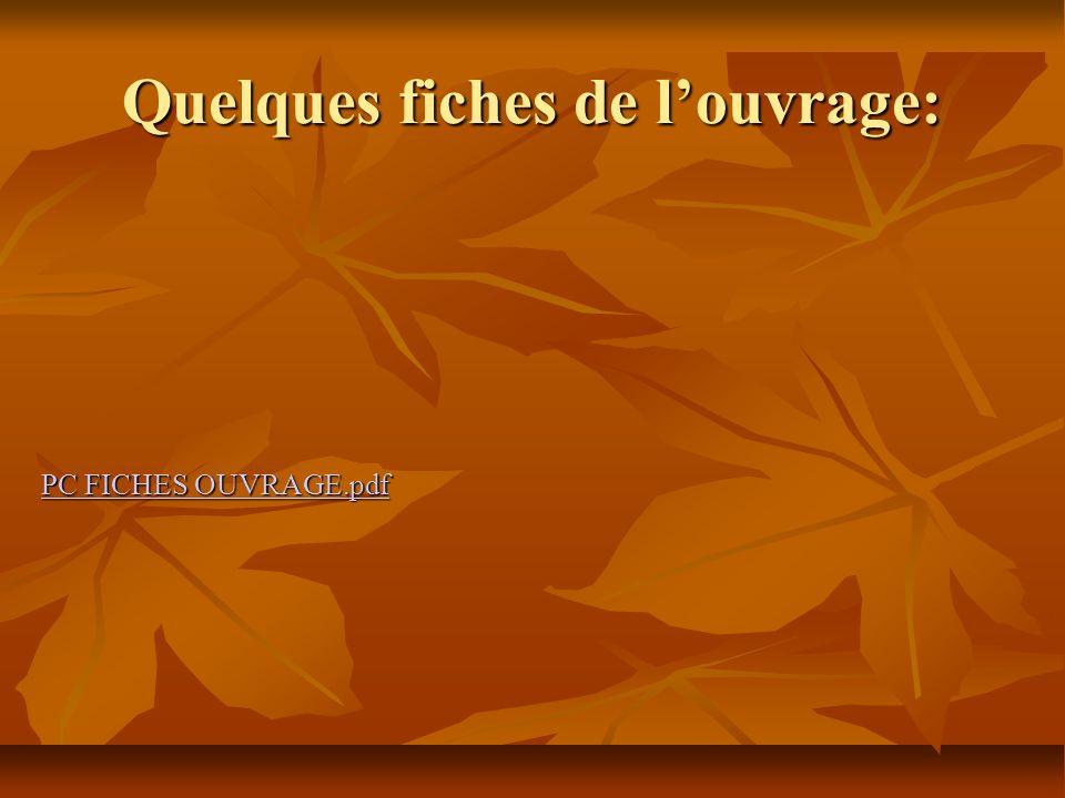 Quelques fiches de louvrage: PC FICHES OUVRAGE.pdf PC FICHES OUVRAGE.pdf
