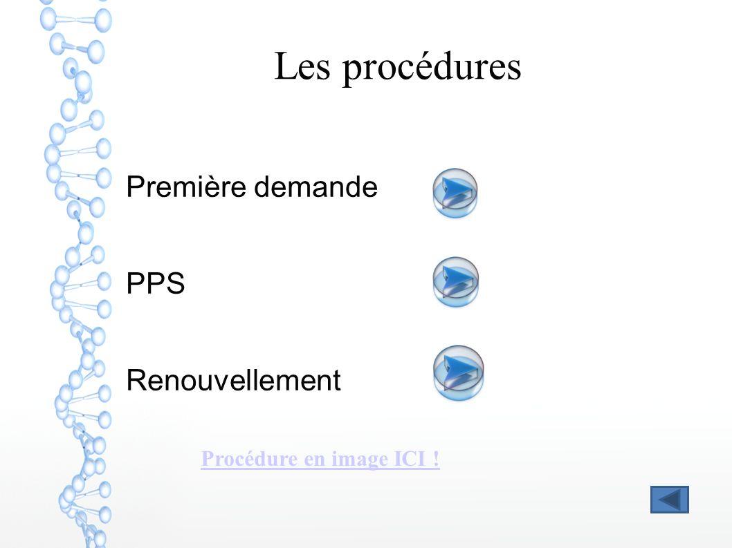 Les procédures Première demande PPS Renouvellement Procédure en image ICI !