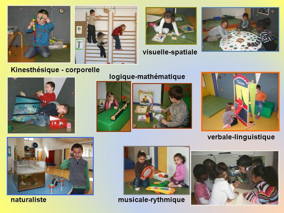 Un exemple dans une classe Kinesthésique - corporelle naturaliste verbale-linguistique musicale-rythmique