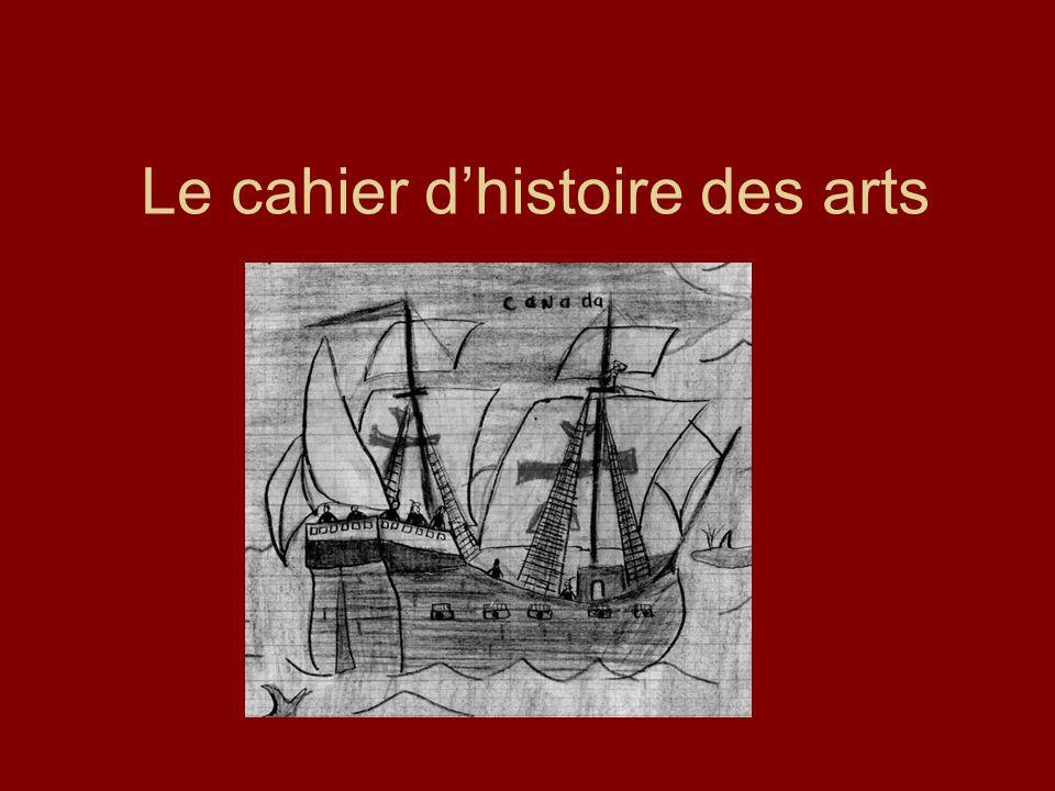 Le cahier dhistoire des arts