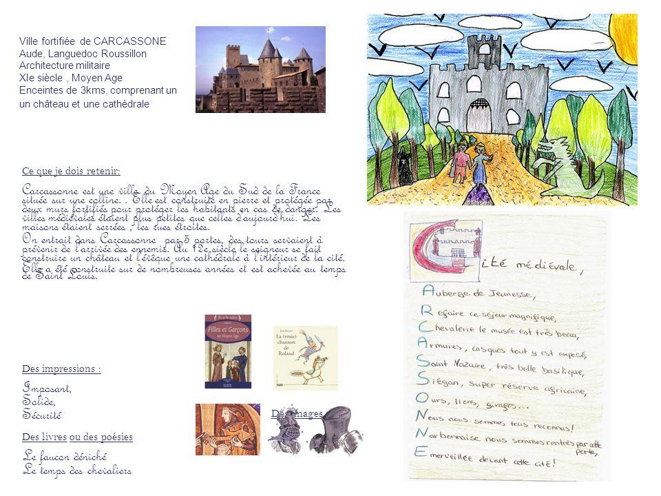 Ville fortifiée de CARCASSONE Aude, Languedoc Roussillon Architecture militaire XIe siècle, Moyen Age Enceintes de 3kms, comprenant un un château et u