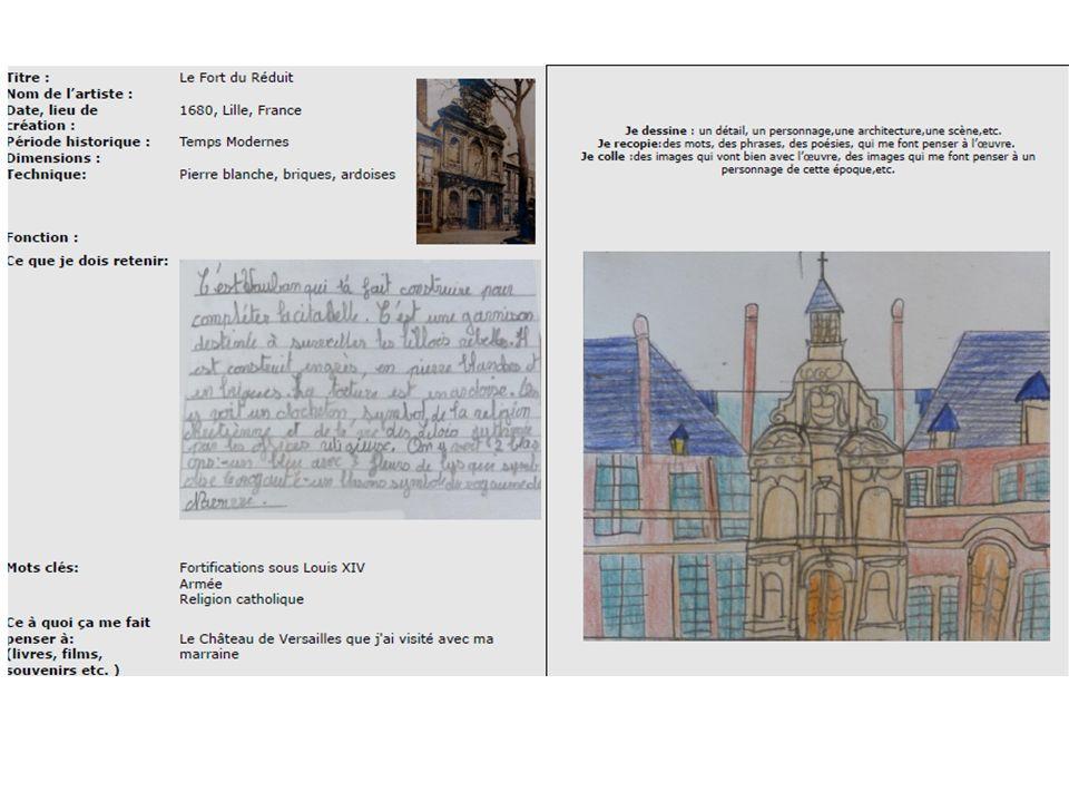 Titre : Nom de lartiste : Date, lieu de création : Période historique : Dimensions : Technique: Fonction : Le Fort du Réduit 1680, Lille, France Temps
