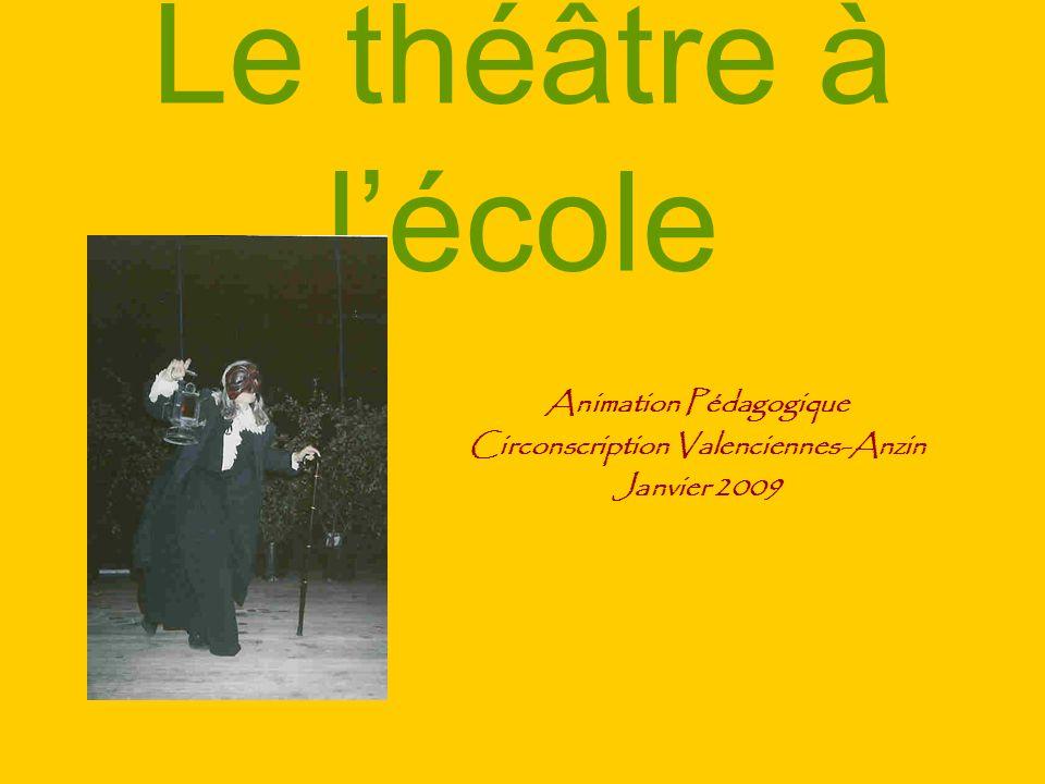 Le théâtre à lécole Animation Pédagogique Circonscription Valenciennes-Anzin Janvier 2009