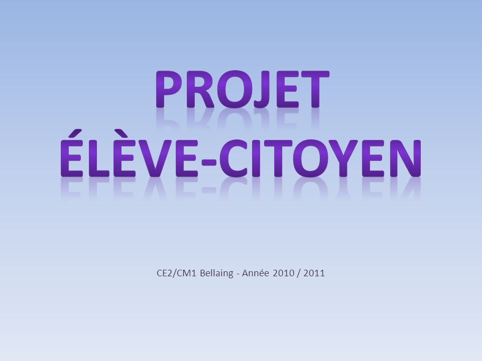 CE2/CM1 Bellaing - Année 2010 / 2011