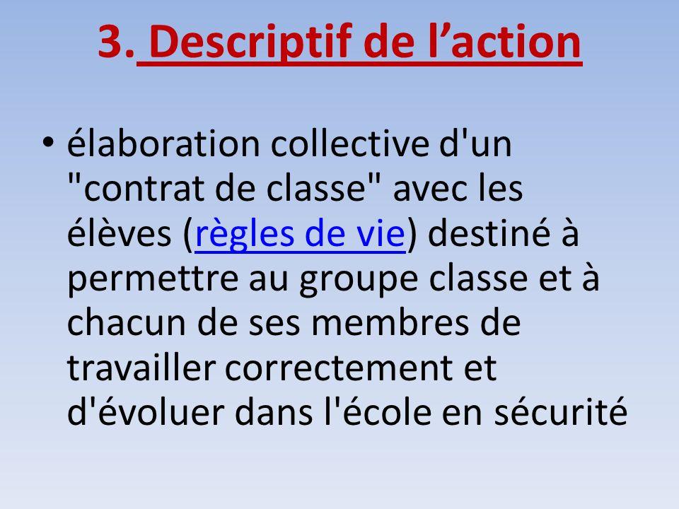 3. Descriptif de laction élaboration collective d'un