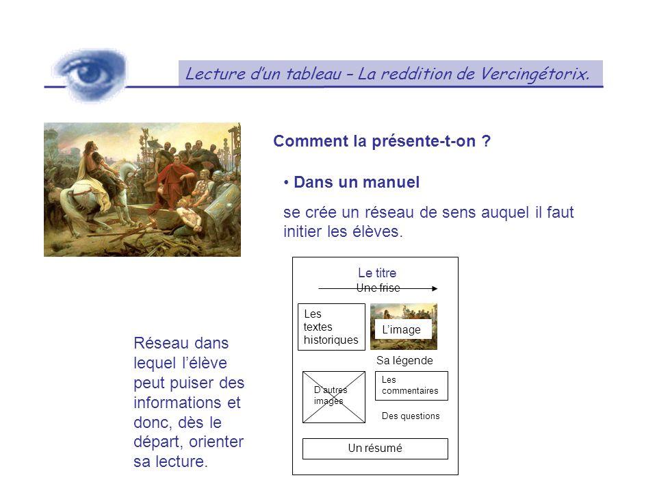 Lecture dun tableau – La reddition de Vercingétorix.