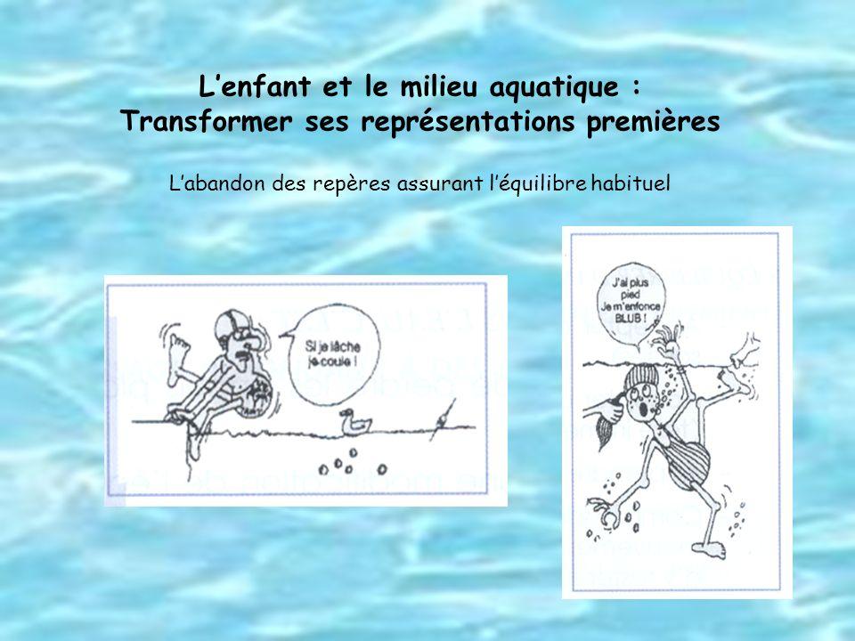 Lenfant et le milieu aquatique : Transformer ses représentations premières Labandon des repères assurant léquilibre habituel
