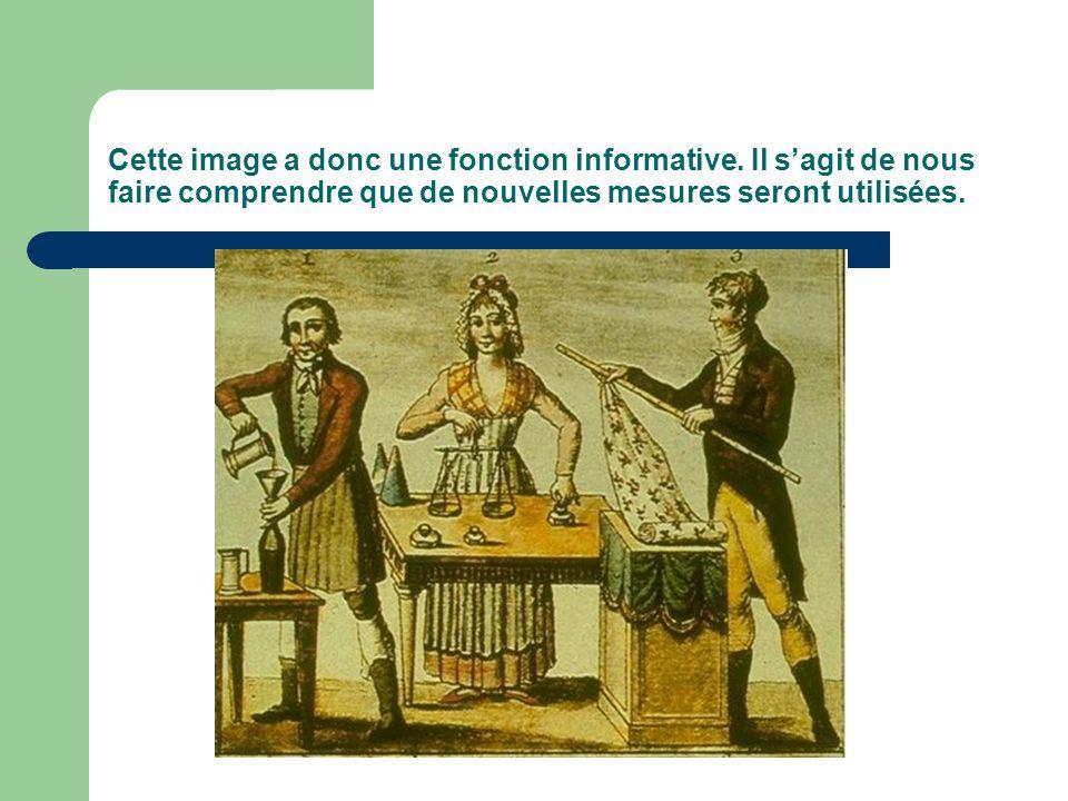 Cette image a donc une fonction informative. Il sagit de nous faire comprendre que de nouvelles mesures seront utilisées.